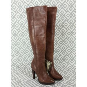 Frye Harlow Stitch Cuff Over The Knee Boots Heels